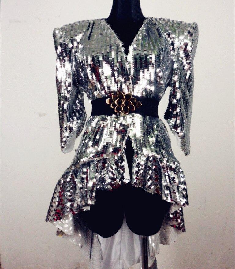 Night Club Dress Dj Dance Group Ds Show Geometric Patterns Stage Show Costumes Nightclub Modern Dance Singer Wear Home