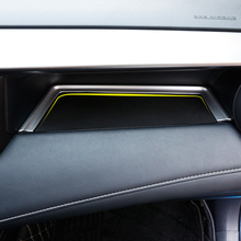 Only for Left hand drive For Toyota RAV4  2014 2017 Accessories  Matte  Interior Co pilot storage U type  Cover Trim Decoration