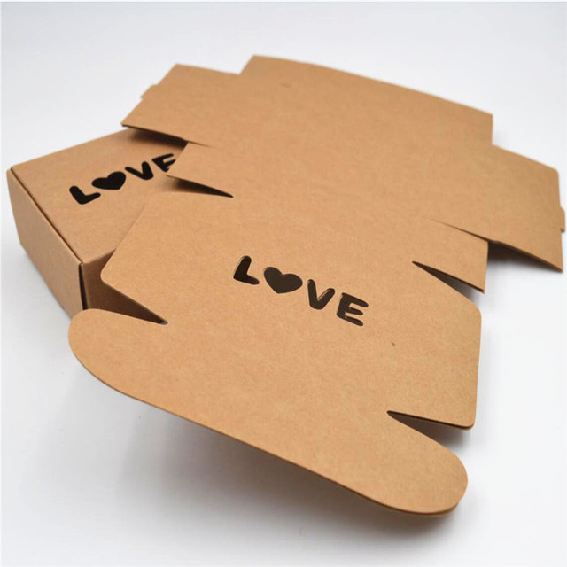 fc935966872 7.5 7.5 3cm brown paper box kraft recycled paper gift box Gift Packing Boxes
