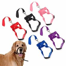 Durable Pet Dog Nylon Head Collar Gentle Halter Leash Leader No Pull Bite Straps Training for Small Meidum Large
