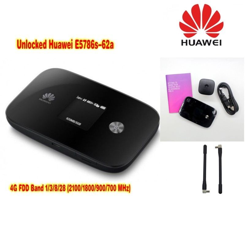 New Arrival Original Unlock 300Mbps HUAWEI E5786S-62A 3G 4G WiFi Router With 2pcs antenna And 4G LTE Cat6 Mobile (plus antenna)