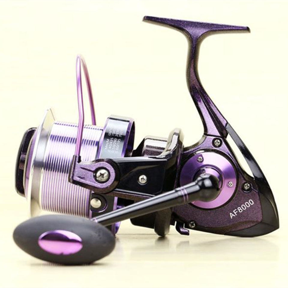 AF8000 full metal spool Jigging trolling long shot casting for carp and salt water surf spinning big sea fishing reel yumoshi 10000 size metal spool jigging trolling long shot casting for carp and salt water surf spinning big sea fishing reel
