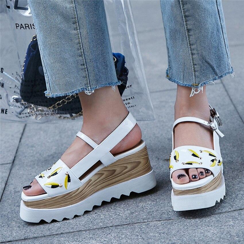 Del Gladiador Tacones Genuino Mujer De Cuero Sandalias Zapatos BoWreCxd