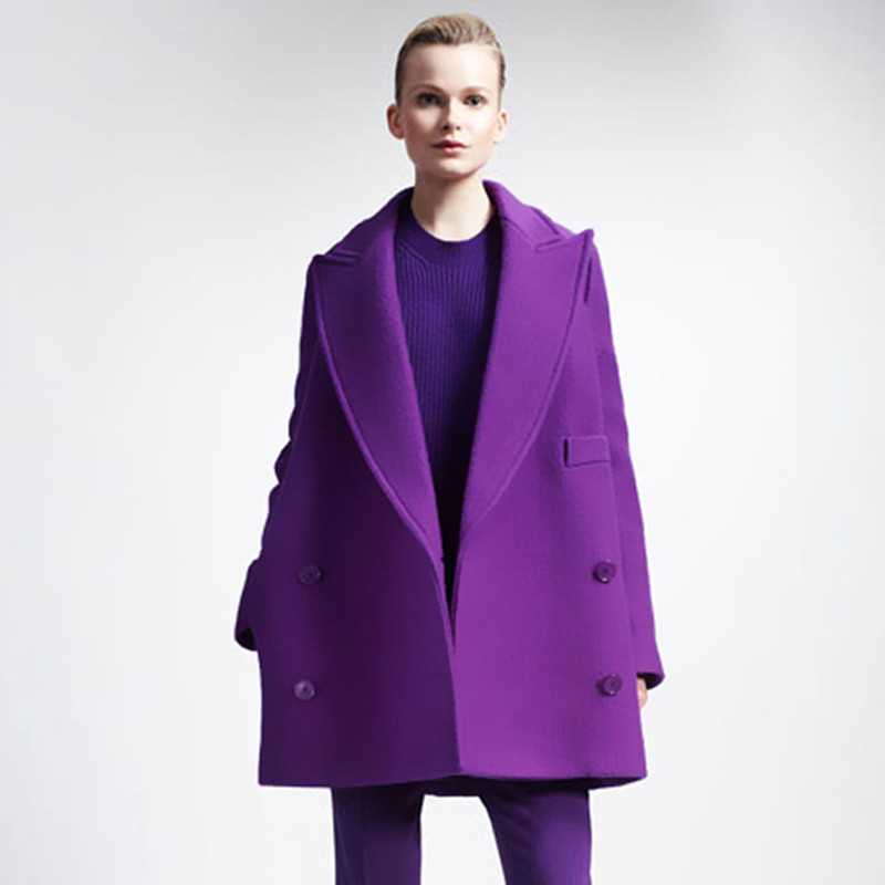 buy plus size xl 5xl 2015 fashion women wool coat autumn winter solid medium. Black Bedroom Furniture Sets. Home Design Ideas