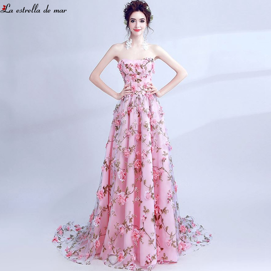 Long   dress   for wedding party for woman new lace strapless a Line pink   bridesmaid     dress   plus size cheap vestidos de madrinha