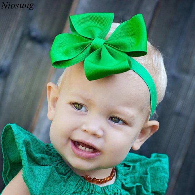 Niosung 11PC Children Baby Girl Elastic Headband Bowknot Photography Headbands Toddlers Infant Kids Hair Accessories