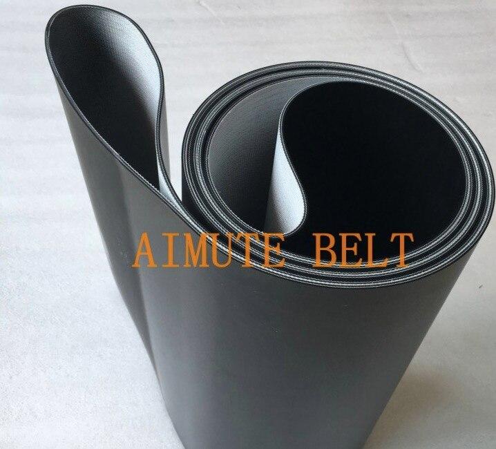 4 pièces (540mm/520) x 205mm x 2mm noir PVC Transmission bande transporteuse ceinture industrielle