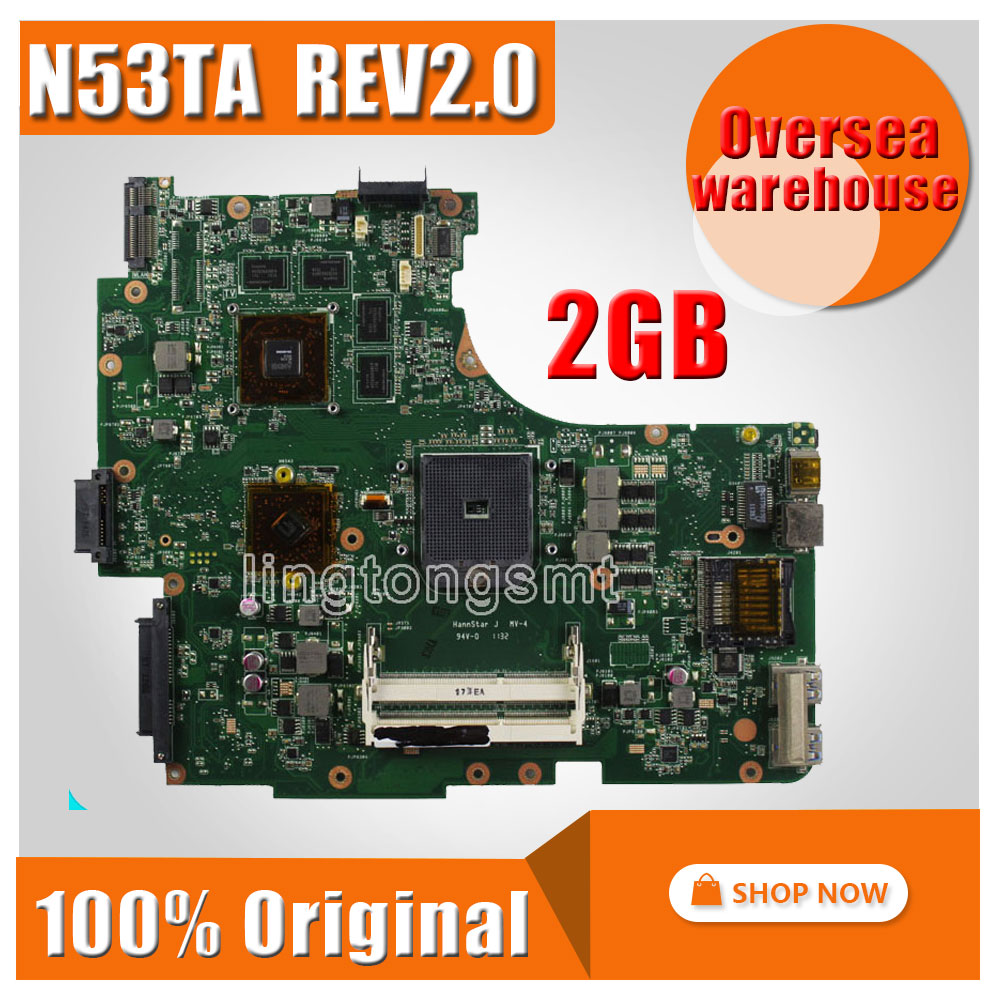 все цены на Original for ASUS N53T N53TK N53TA REV2.0 2G Motherboard Mainboard 100% fully tested онлайн