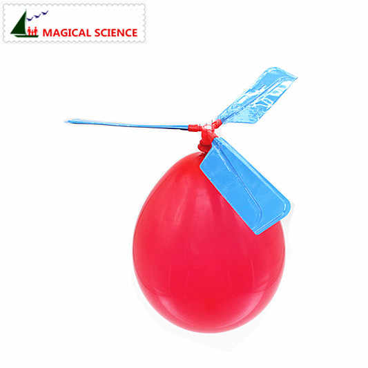 2pcs wholesale Fun physics experiment Homemade Balloon Helicopter DIY material,home school educational kit,your kids best gift