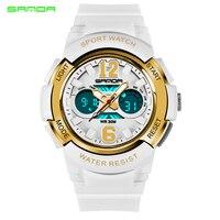 Fashion Sanda Brand Children Watches LED Digital Quartz Watch Boy Girl Student Multifunctional Waterproof Wristwatches For