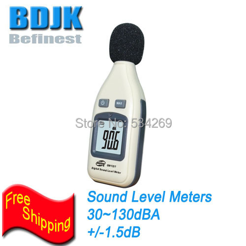 30dB to 130dB Mini Digital Sound Level Meter with Free Shipping Sound Level Instrument brand new professional digital lux meter digital light meter lx1010b 100000 lux original retail package free shipping