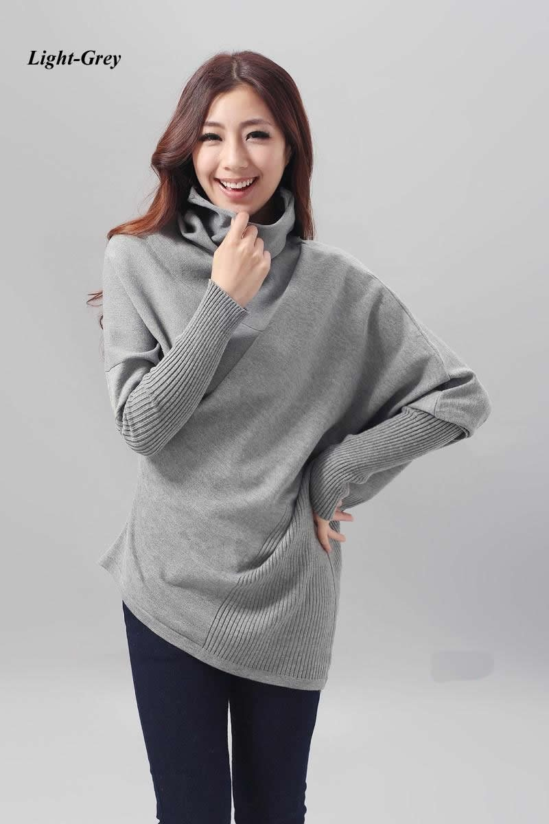 Women sweater cape jacket poncho style cotton shirt long for Long sweaters and shirts