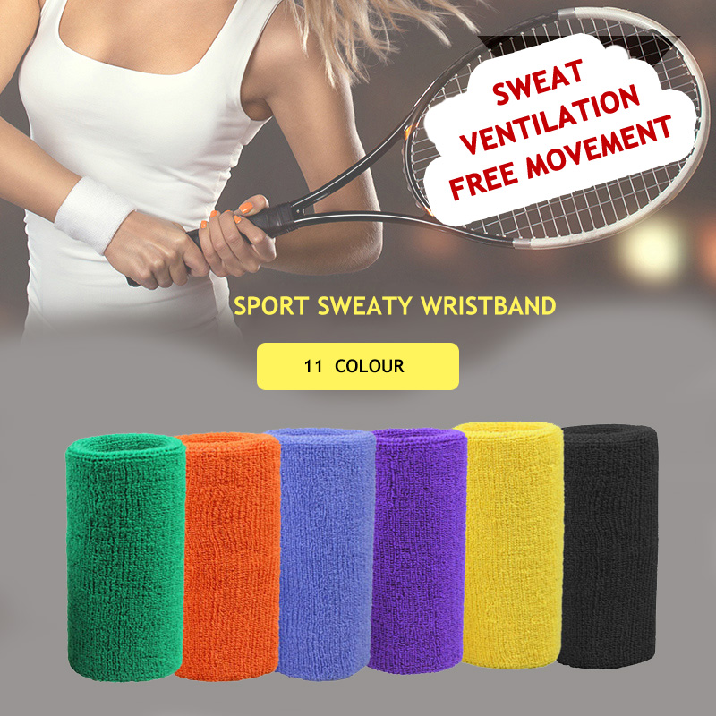 Hot Absorb sweat Sport Wristband for Basketball Tennis Badminton Running Fitness protective Sports Wrist Support Bracers fitness protective glove hand palm barbell basketball sports men and women riding