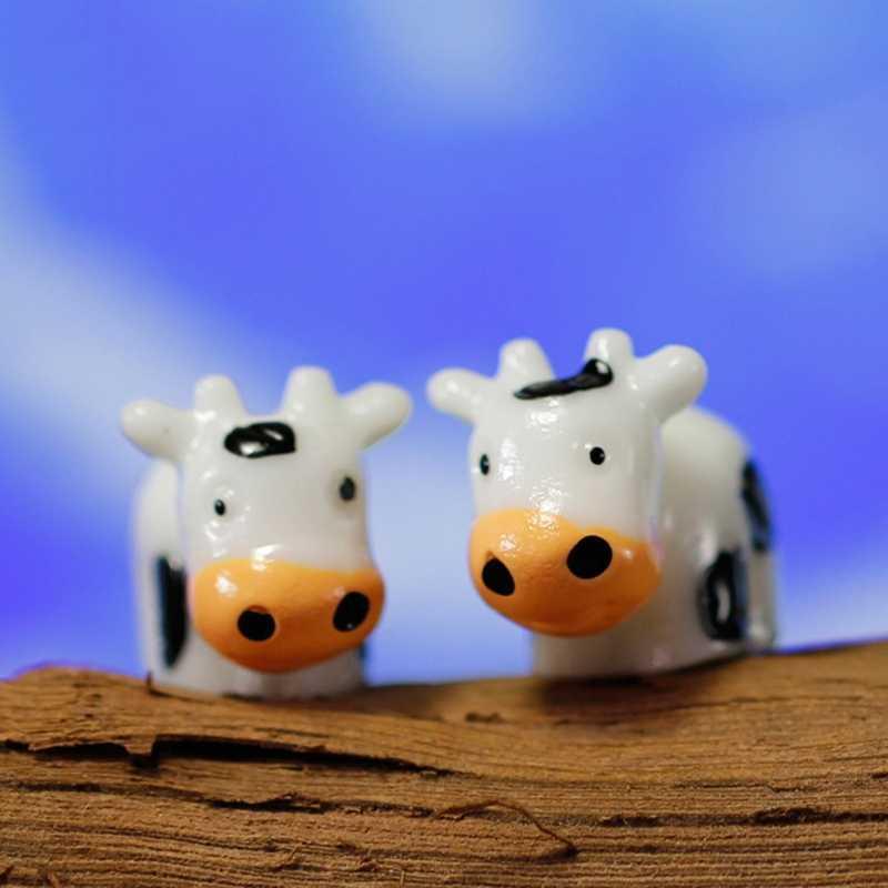 الجنية حديقة حيوان مصغرة البقر تمثال الحرفية الدقيقة المشهد حلية ديكور