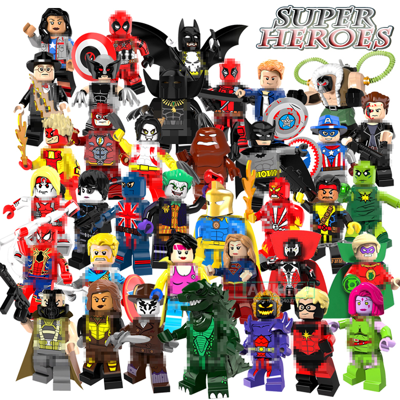 Building Block Single Sale Doctor Fate Super Girl Joker Batman Jubilee Cowboys Flash Kids Super Heroes Toys Bricks Figure PG8082 the biomaterials silver jubilee compendium
