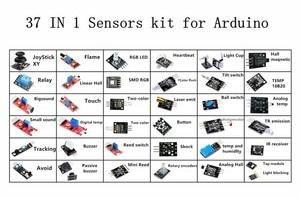 Image 2 - (Touch Module Voor Gratis Geschenk) 37 In 1 Sensor Kits Voor Diy Hoge Kwaliteit Module Board Set Kit Voor Arduino Kartonnen Doos Pakket
