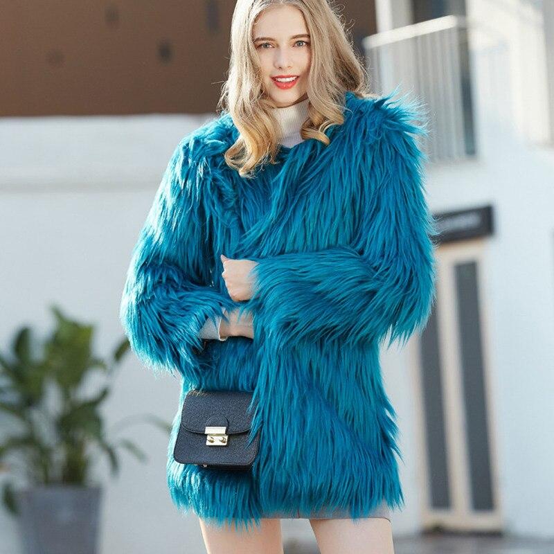 Suave Otoño Invierno Vestir Prendas Mujer Blue Caliente Mujeres qgcR1vU
