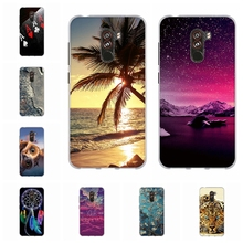 For Xiaomi Pocophone F1 Case Ultra-slim Soft TPU Silicone Poco Cover Tower Patterned Capa