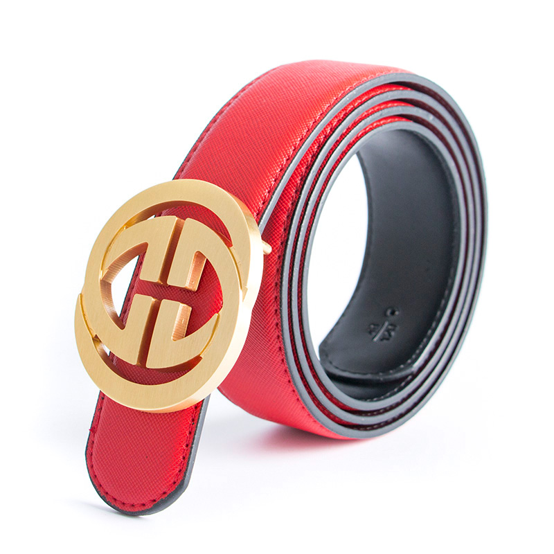 ECHAIN 2019 New Luxury Solid Brass Designer Belts Men Male Women Genuine Real Leather