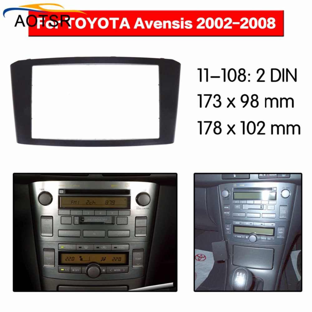 Radio Facia For Toyota Avensis 2002 2003 2004 2005 2006 2007 2008 Double Din Fascia Car Stereo Radio Installtion Dash in stock