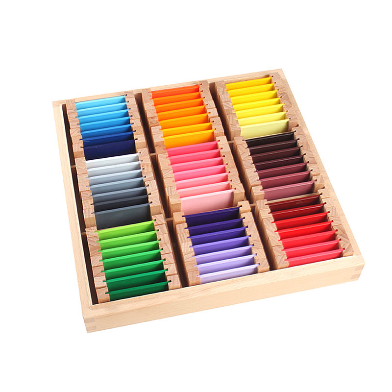 Montessori Infantile Jouets Montessori Couleur Comprimés D'apprentissage Préscolaire Jouets Éducatifs pour Enfants En Bas Âge Juguetes Brinquedos YG1344H