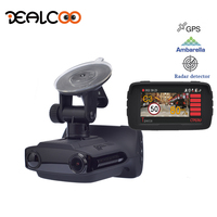 Dealcoo Car DVR Digital Video Recorder Camera Radar detector GPS Logger 3 in 1 1080P FHD Ambarella A7LA50 Auto Registrar Camera
