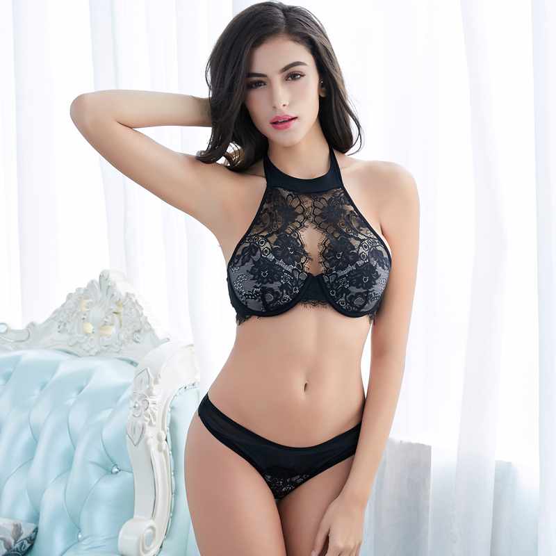 embroidery lace bra set