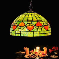 Turkish Stained Glass Metal Iron Chain LED E27 Bulb Hang Pendant Light Lamp Holder Personality Kid Room Clothes Store BarberShop
