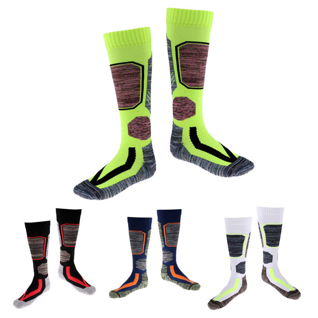 4 Pairs Winter Thermal Ski Snow Walking Hiking Sport Towel Socks Mixed Color