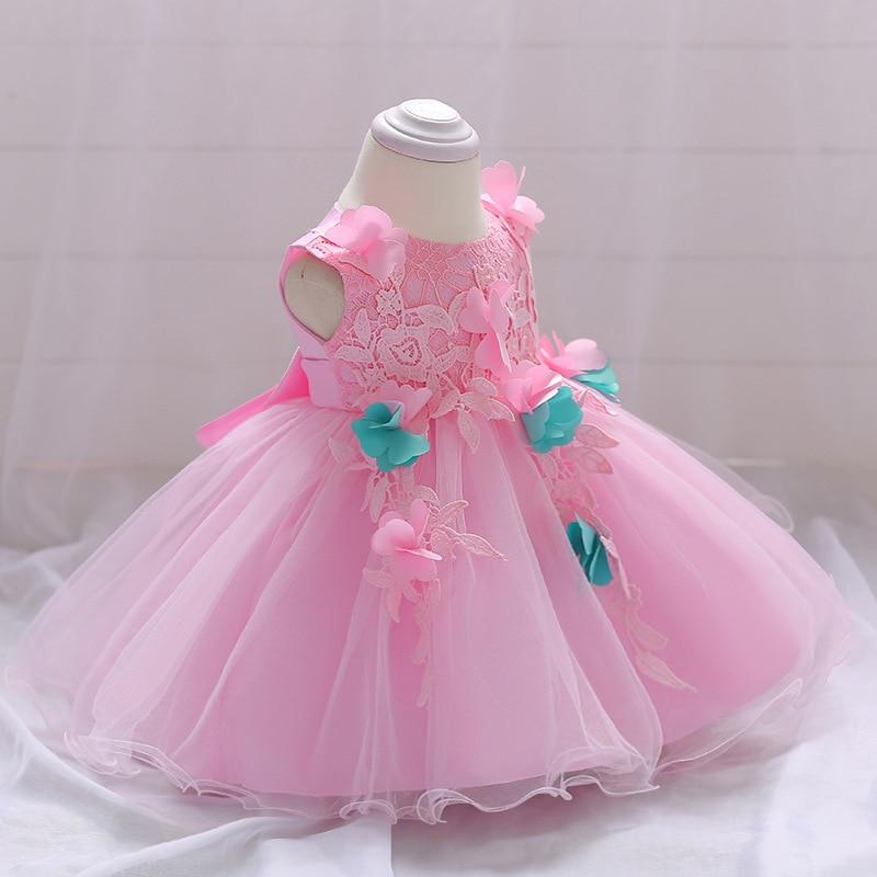 2018 New Baby Flower Girl Dress Summer Tutu Birthday Party Dresses Vestido infantil Costume For Kids Dresses For Girls Clothes