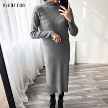 Women maxi dress Spring autumn 2019 new fashion Long Sleeve Sweater Knitted Dresses sexy Pencil Casual bodycon dress Vestidos new fashion 2018 spring women lace dress elegnt black dress vestidos long sleeve knitted dresses female outwear hot sale lx19