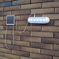 1 pc Popular Dividir Puxar Luz Solar 5 LED luz de emergência Ao Ar Livre de Aço Inoxidável Durável Plástico jardim/corredor Solar Lâmpada de parede