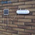 1 unid Dividida Populares Tirar de La Luz Solar 5 LED luz de emergencia Al Aire Libre Durable de Plástico de Acero Inoxidable jardín/pasillo Solar Lámpara de pared