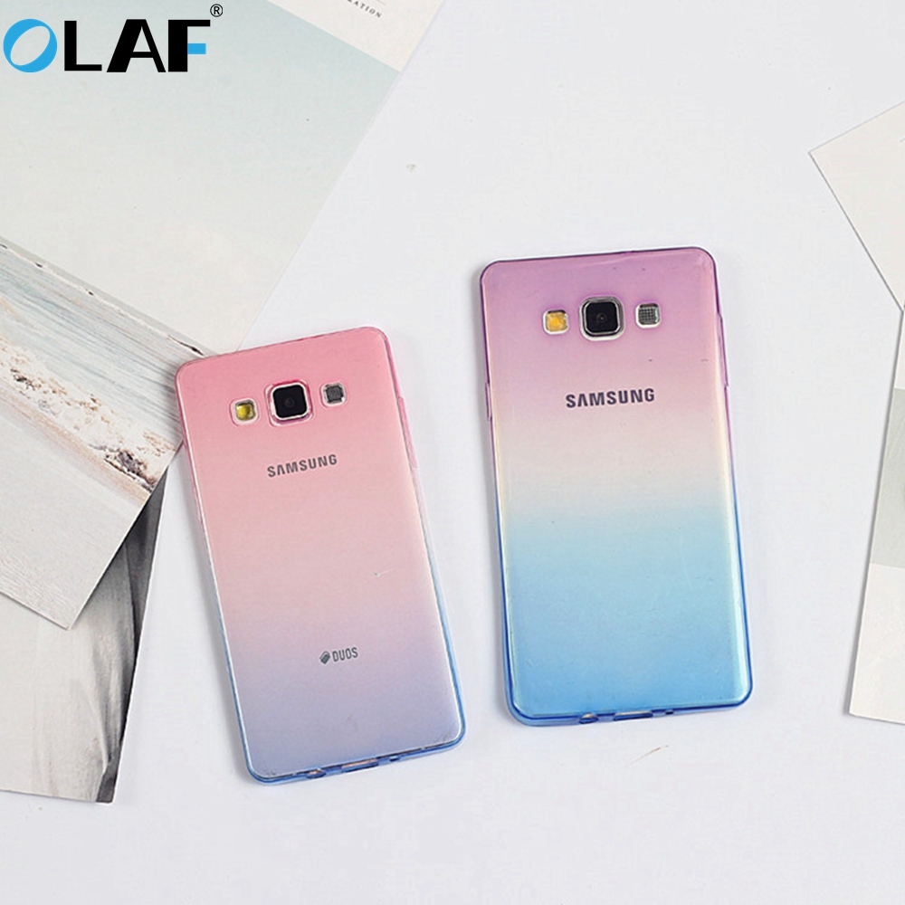 Ultra Thin Gradient Soft Silicon TPU Case for Samsung Galaxy A3 A5 A7 2017 A520 S6 S7 S7 Edge S8 S8 Plus Note 8 Transparent case
