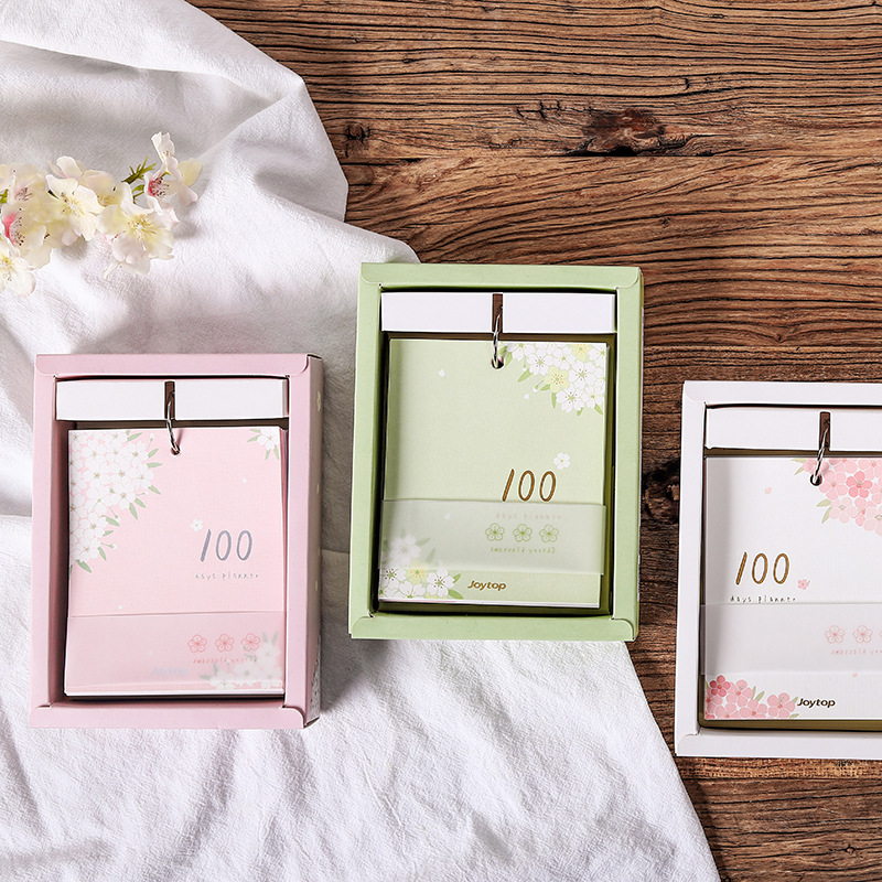 100 jours livre de bobine denregistrement 13.2*11 cm 74 feuilles Notes florales livraison gratuite100 jours livre de bobine denregistrement 13.2*11 cm 74 feuilles Notes florales livraison gratuite