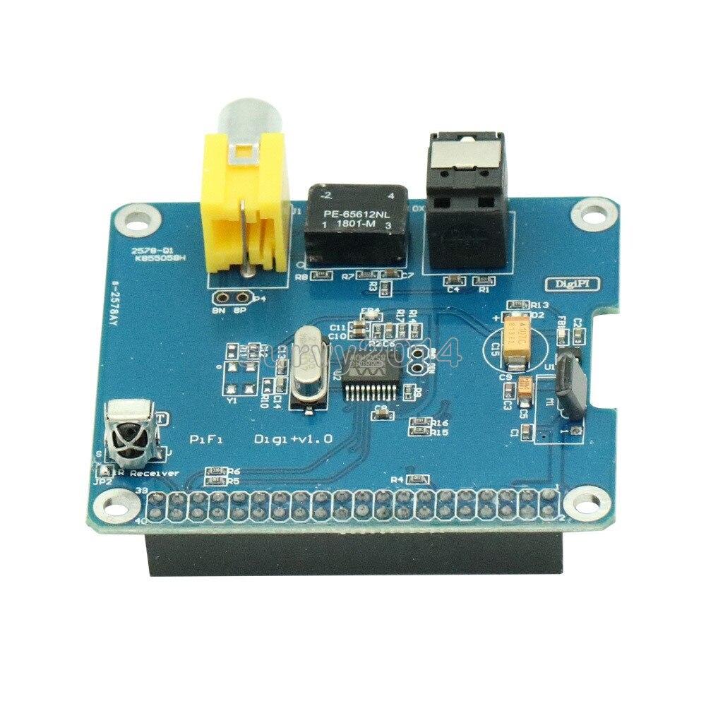 PIHI HIFI Digi+ Digital Audio Sound Card I2S SPDIF Optical Fiber Expansion Board For Raspberry Pi 2 Model B / B+ / A+