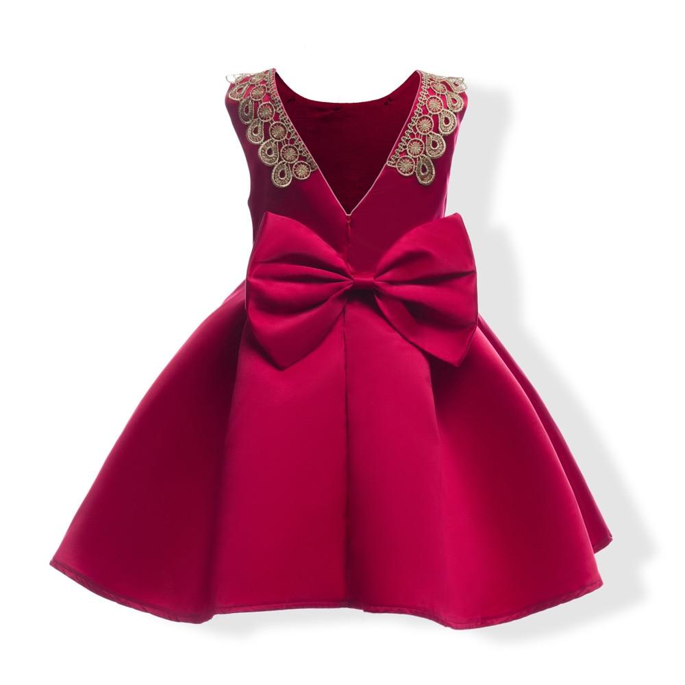 Online-Shop Elegante Gold Stickerei Mädchen Kleid Farbe Kinder ...