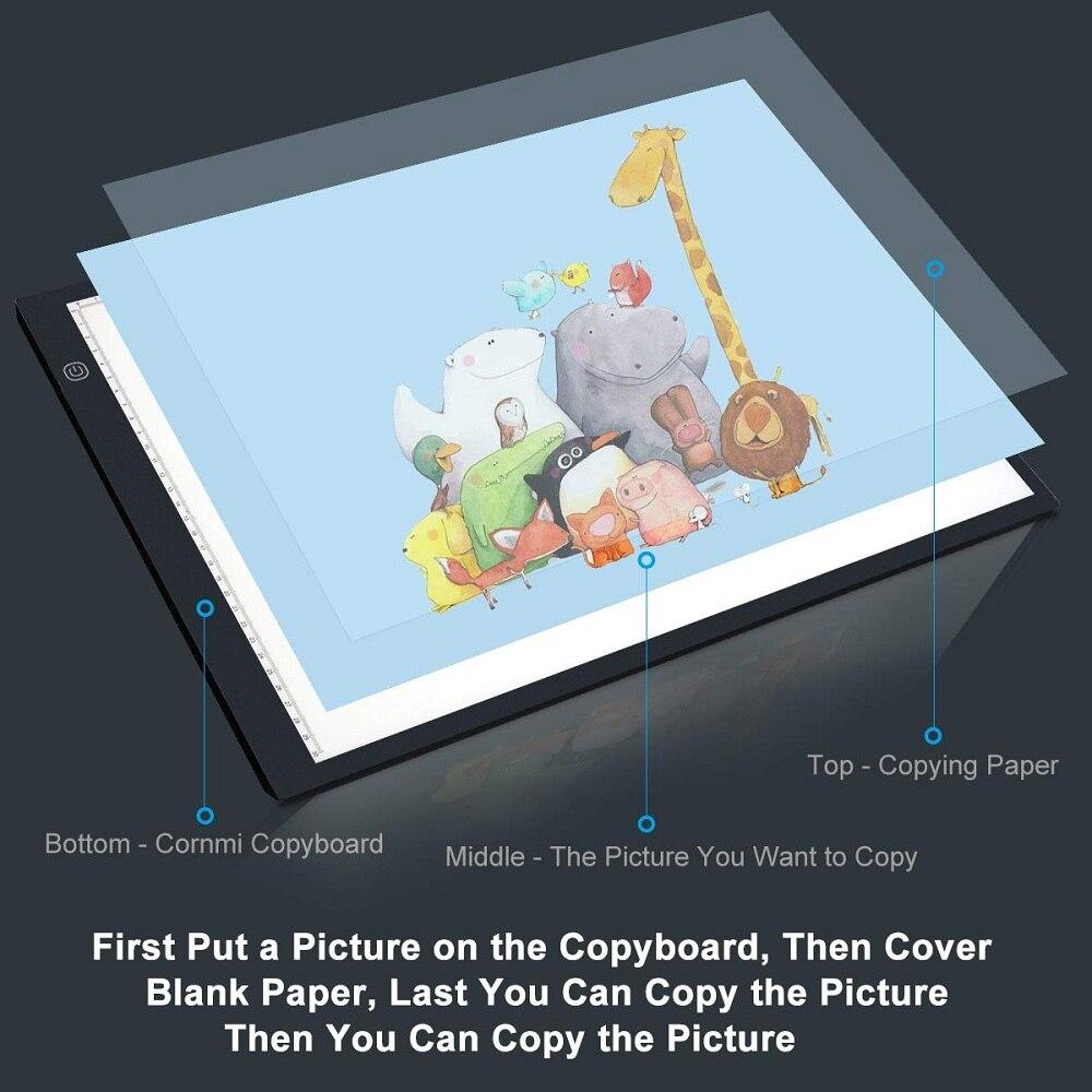 Image 3 - графический планшет для рисования  A4 Светодиодный световой короб   , планшета, цифровой Трасер, лист для копирования, доска для алмазной  живописи, эскиз, Исправление горный хрусталь-in Цифровой планшеты from  Компьютеры и офисная техника on AliExpress