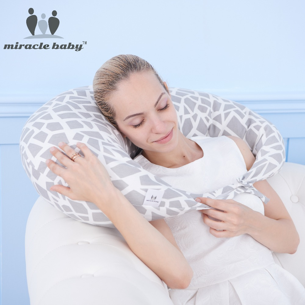Latest Style 100% Cotton Versatile Moon Shape Design Pillow for Mummy and Baby U Shaped Waist Protecting Sleeping Neck Pillow стоимость
