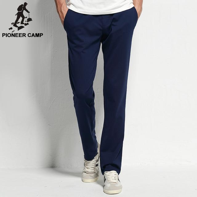 Pioneer Camp 2017 new fashion modal mens pants casual wear elastic thin mens pants sweatpants  fitness