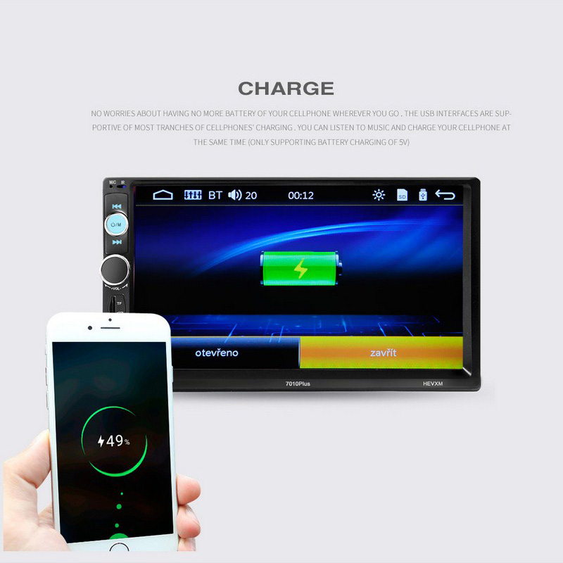 Image 3 - 7 Inch Car MP4 MP5 Players Central Multimedia Touch Screen Night vision Rear View Camera Bluetooth Auto FM Radio Video Player-in Car MP4 & MP5 Players from Automobiles & Motorcycles
