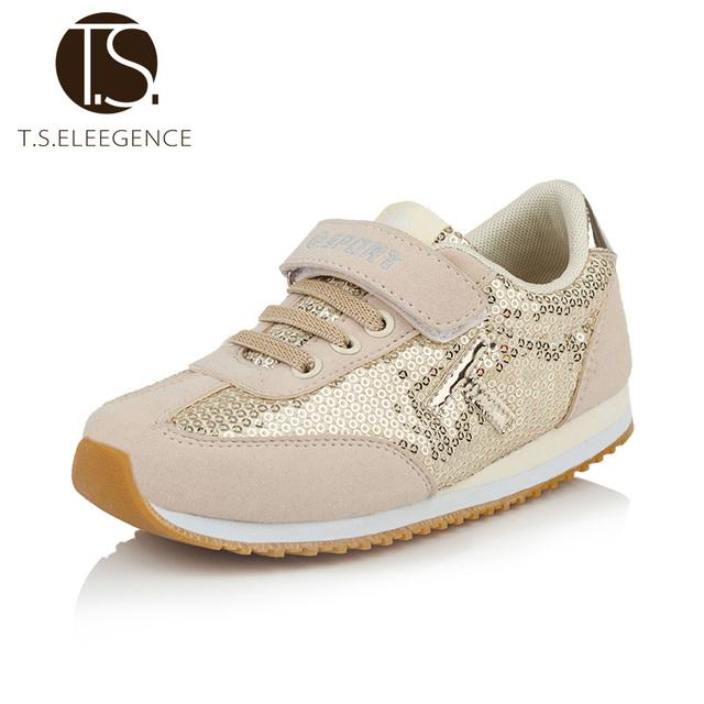 T. s. crianças shoes new faísca glitter sapatilhas casuais criança peso leve esporte de corrida meninas kids shoes tenis size26-36 calçados infantis infantil