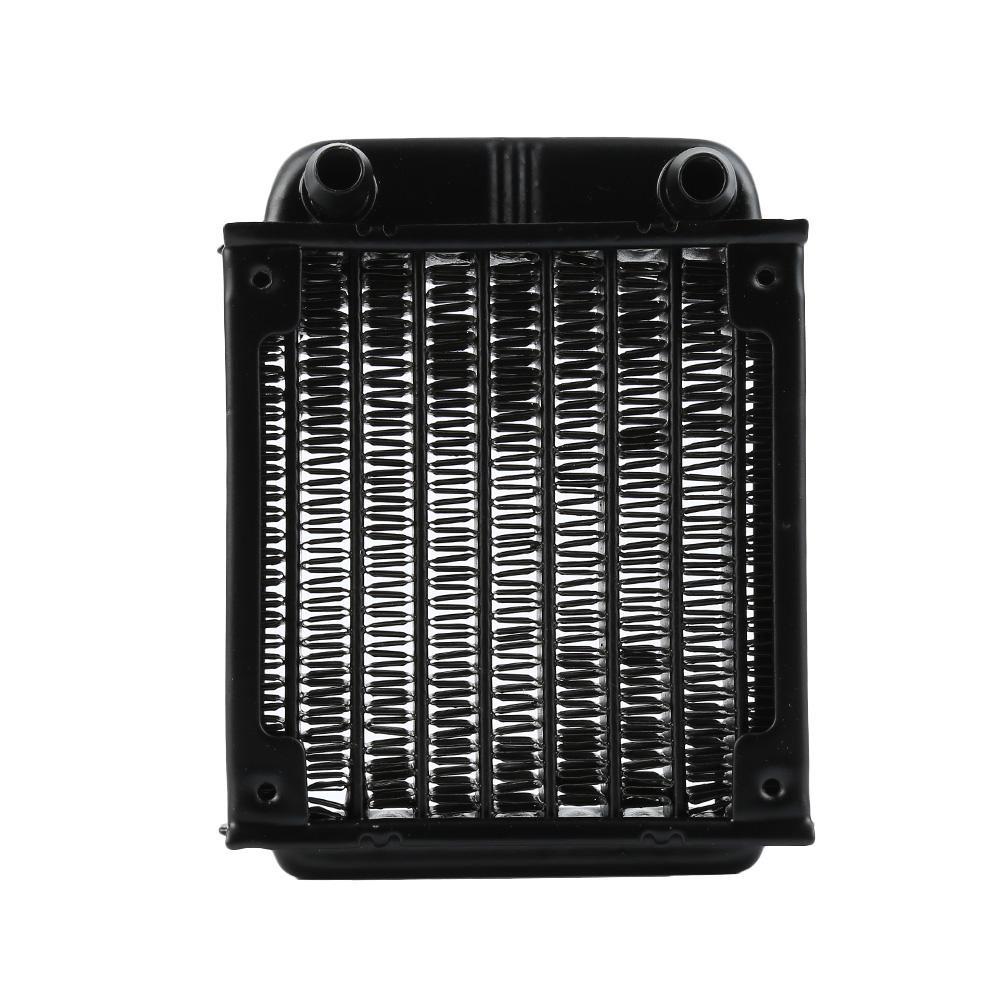 NEW 1Pc 80mm black Aluminum Computer Radiator Water Cooling Cooler Fans Heat Exchanger for CPU 1u server computer copper radiator cooler cooling heatsink for intel lga 2011 active cooling