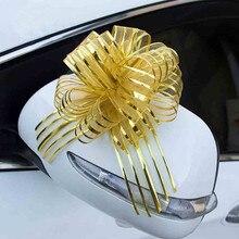 Потяните лук ленты Свадебные украшения автомобиля дверные ручки зеркало заднего вида цветок шар красное вино подарок упаковка