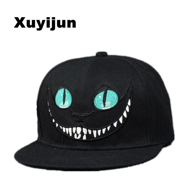 все цены на  Xuyijun 2017 Alice Wonderland Cheshire Cat cartoon baseball caps BUGS BUNNY SYLVESTER hats for Men and Women snapback hiphop  в интернете