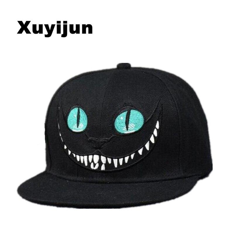 Xuyijun 2018 Alice Wonderland Cheshire Cat cartoon baseball caps BUGS BUNNY SYLVESTER hats for Men and Women snapback hiphop