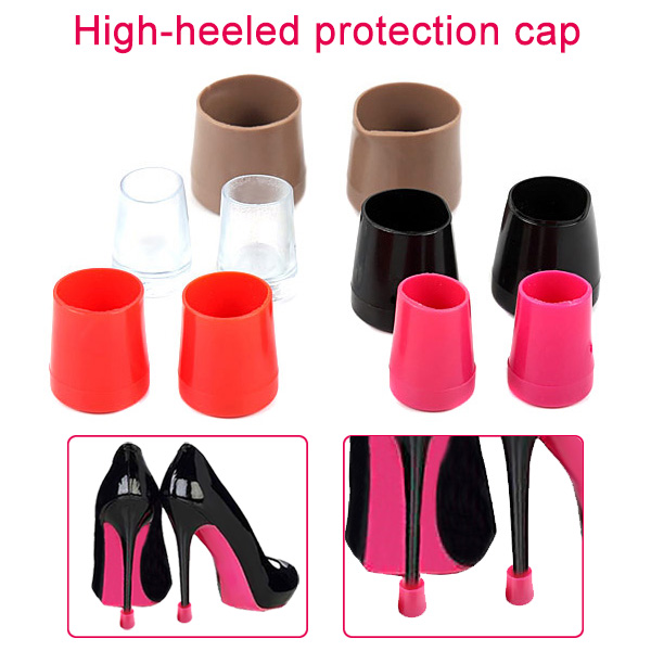 1 Pair High Heel Protectors Heel Stoppers Shoes Covers Latin Dance Shoes Stopper Anti-skid Wearable LBY2018 1 pair high heel protectors heel stoppers shoes covers latin dance shoes stopper anti skid wearable best sale wt