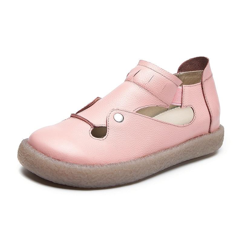 ZXRYXGS zapatos de marca mocasines de mujer 2019 nuevos zapatos de cuero de vaca de primavera para mujer antideslizante comodidad transpirable zapatos planos de mujer-in Zapatos planos de mujer from zapatos    3