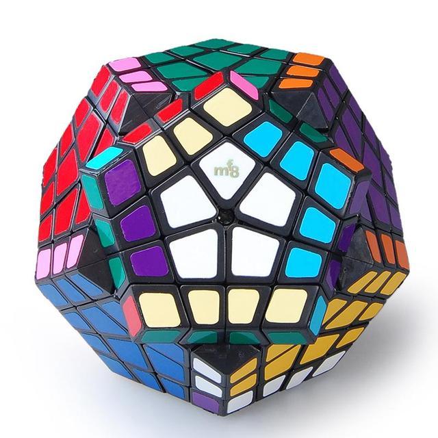 MF8 Megaminx 4X4 Plástico Cubo Mágico Negro Venta Caliente Rompecabezas Twisty Puzzle Juguete cubo mágico Envío Gratis