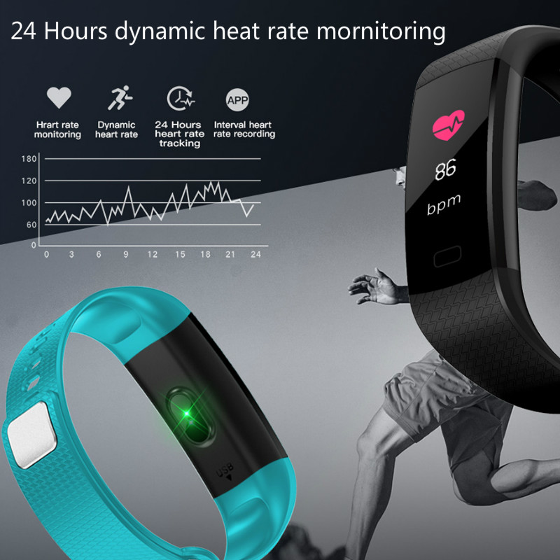 Image 5 - Bluetooth smart watch waterproof heart rate monitor blood pressure blood oxygen measurement fitness activity tracker Notificatio-in Smart Wristbands from Consumer Electronics